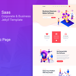 Xavat – Saas Corporate and Business Jekyll Template