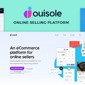Ouisole – Online Selling Platform PSD template