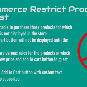 WooCommerce Restrict Products For Guest