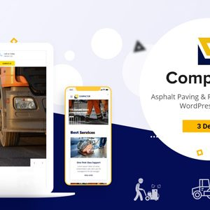 Compactor – Road Construction WordPress Theme