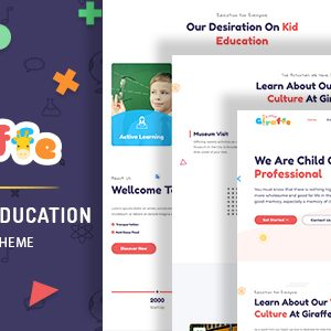 Giraffe – Kindergarten Education WordPress Theme