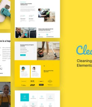Cleanco – Cleaning Service Company Template Kit